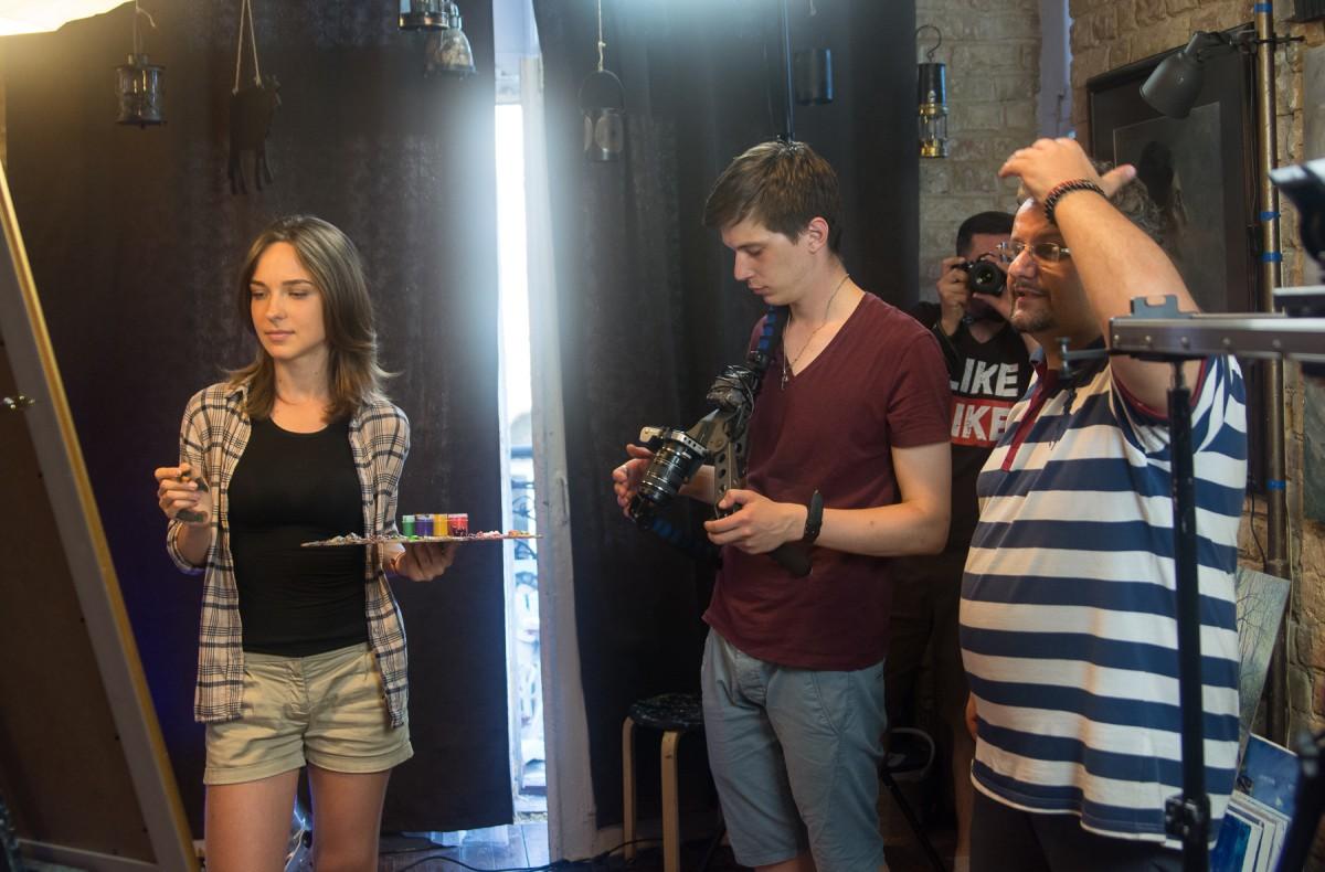 Перший день зйомок кліпу