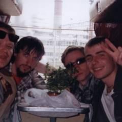 Є.Прядко, В.Чернецький, А.Тараненко, І.Козаченко. Поїзд Москва-Київ, 02.06.2004