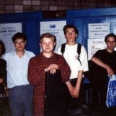 """Група """"Кам`яний Гість"""" після концерту в ДК КІІЦА. Фото різних років"""