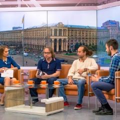 """Світлини з прямого ефіру на телеканалі """"Київ"""". Автор світлин - Віктор Чернецький"""